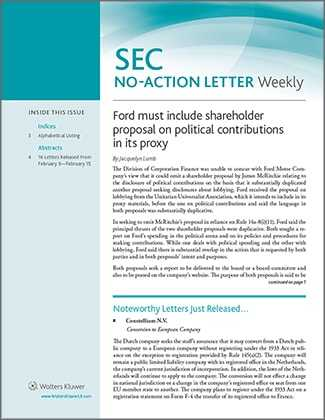 SEC No-Action Letter Weekly