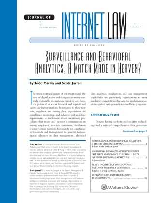 Journal of Internet Law