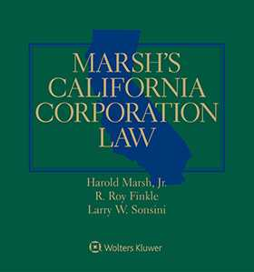 Marsh's California Corporation Law, Fourth Edition