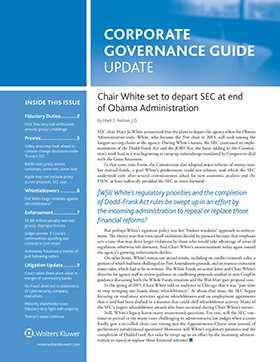 Corporate Governance Guide Update by