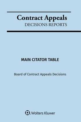 Contract Appeals Decisions