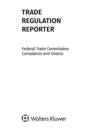 Trade Regulation Reporter