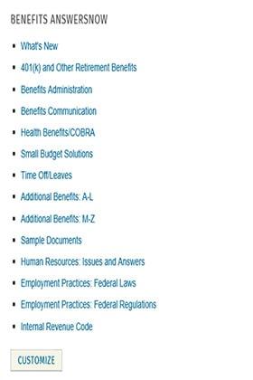 BenefitsAnswersNow™ by Wolters Kluwer Editorial Staff ,Lauren Bikoff Wolters Kluwer Legal & Regulatory U.S.