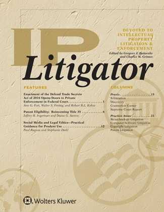 IP Litigator by Gregory J. Battersby, Charles W. Grimes