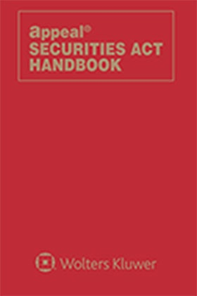 Securities Act Handbook by Wolters Kluwer Editorial Staff