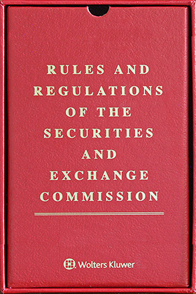 RED BOX: Rules and Regulations of the Securities and Exchange Commission by Wolters Kluwer Editorial Staff