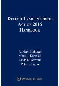 Defend Trade Secrets Act of 2016 Handbook