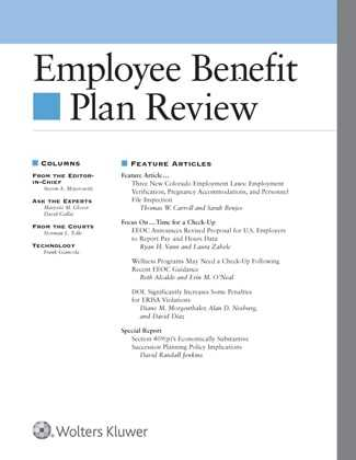 employee benefit plan review wolters kluwer legal regulatory