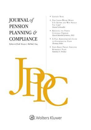 Journal of Pension Planning & Compliance by Bruce J. McNeil