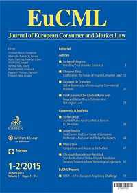 Journal of European Consumer and Market Law by