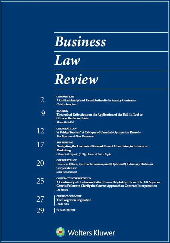 Business Law Review Online