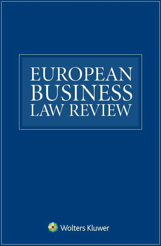 European Business Law Review Online by KLI/TURPIN