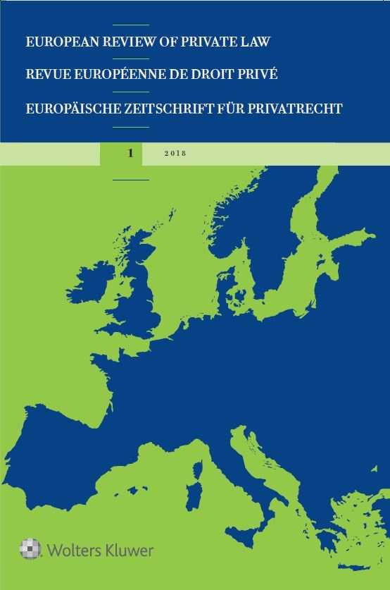European Review of Private Law Online by KLI/TURPIN