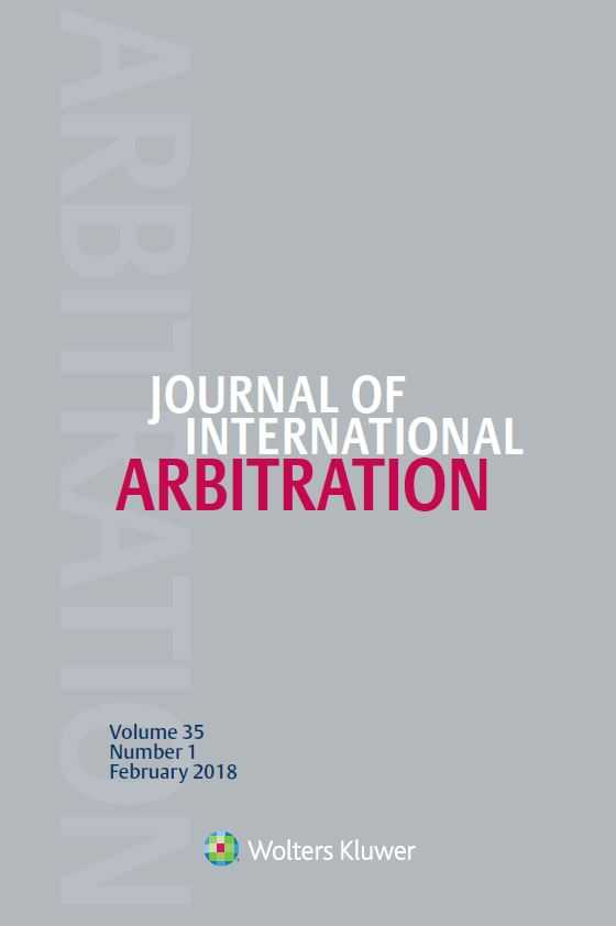 Journal of International Arbitration Online by KLI/TURPIN