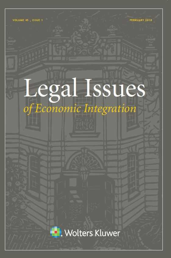 Legal Issues of Economic Integration Online by KLI/TURPIN