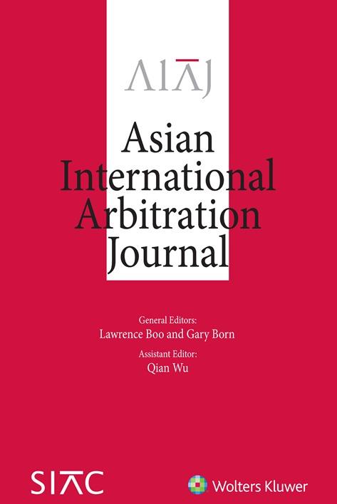 Asian International Arbitration Journal Online by KLI/TURPIN
