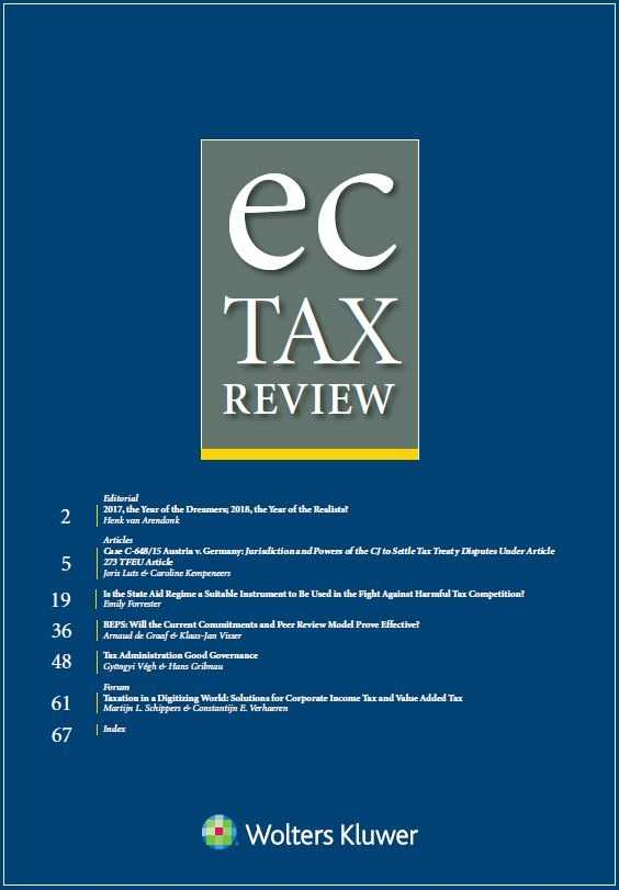EC Tax Review Online by KLI/TURPIN