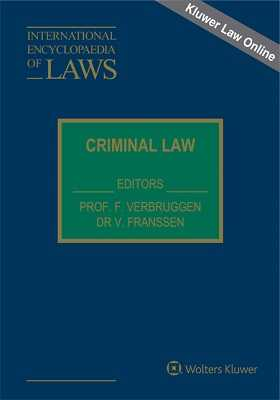International Encyclopaedia of Laws: Criminal Law