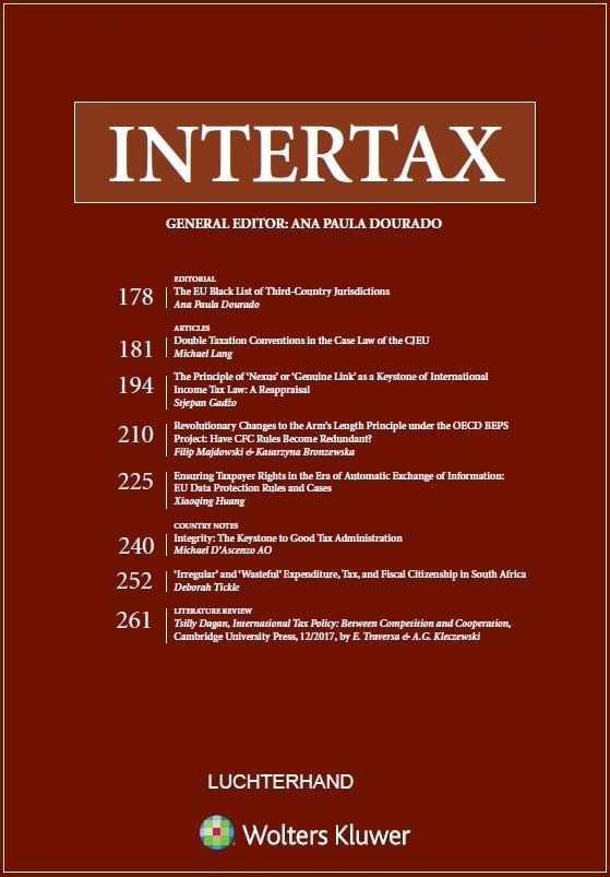 Intertax (Includes EC Tax Review)