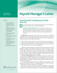 Payroll Manager's Letter