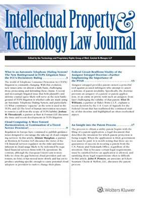Intellectual Property and Technology Law Journal by Steven D. Glazer ,Michael A. Epstein ,Matthew D. Powers