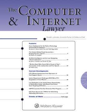 Computer & Internet Lawyer by Ronald L. Johnston