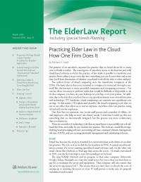 The ElderLaw Report: Including Special Needs Planning by Jane M. Fearn-Zimmer Flaster Greenberg, P.C.