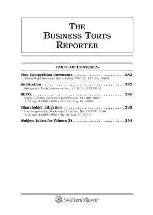 Business Torts Reporter by Richard E. Kaye