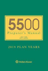 5500 Preparer's Manual for 2019 Plan Years by Mary B. Andersen ERISAdiagnostics, Inc. , Linda T. Fisher Linda T. Fisher 5500 Consulting, LLC