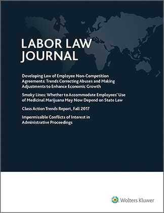 Labor Law Journal by Wolters Kluwer Editorial Staff
