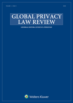 Global Privacy Law Review online by KLI/TURPIN
