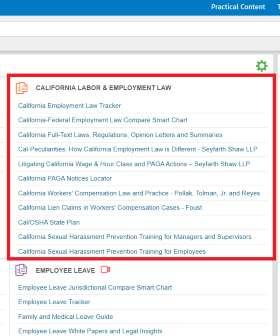 California Labor & Employment Law