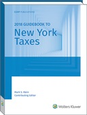 New York Taxes, Guidebook to (2018)