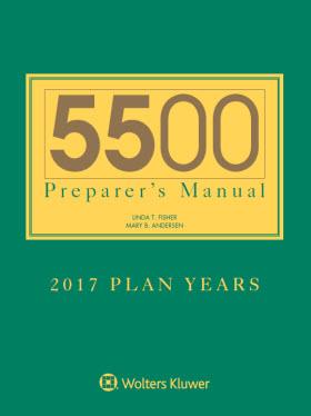 5500 Preparer S Manual For 2017 Plan Years