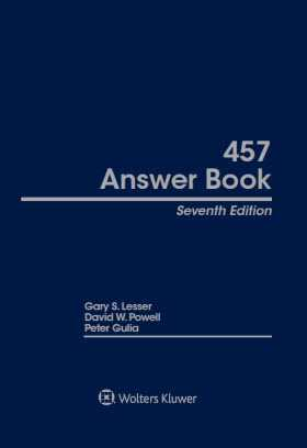 The 457 Answer Book is an in-depth resource that provides answers to the questions that tax-exempt organizations, state and local governments, their accountants, tax and legal advisors, 457 administrators, product providers, and investment counselors need to know. Guiding readers through all aspects of 457 plan administration -- from installation through the audit process -- the 457 Answer Book describes: the duties and responsibilities of those performing the functions; the required legal, accounting, and administrative tasks; checklists that facilitate control of each administrative process; and suggested forms. The 457 Answer Book also provides: The history and legal origins of the plan Design and drafting standards Suggested administrat