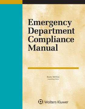 Emergency Department Compliance Manual, 2018 Edition