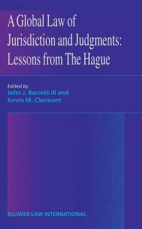 "The papers in this volume address the provisions of the 1999 Hague Jurisdiction and Judgments Draft Convention and the state of the negotiations as of the summer of 2000. They were presented at the symposium ""A Global Law of Jurisdiction and Judgments: Lessons from The Hague,"" held in July 2000 at the Centre Panthon (University of Paris I Law Faculty) as a part of the Cornell-Paris I Summer Institute of International and Comparative Law. Part I focuses on the jurisdiction provisions of the 1999 Draft Convention. For the most part, the papers in Part II look to the future, though they also deal briefly with the judgments provisions of the 1999 Draft. One paper takes up changes in European Union law that will significantly affect future nego"