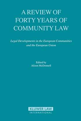 In this important book eighteen of Europe's most respected jurists and legal scholars look at long-term developments in Community and Union law with a view to shedding light on the current situation and pointing out lessons for the future. They consider major Community law themes as they have developed over the past four decades in institutional and substantive contexts, as well as in such newer areas of development as external relations, economic and monetary union, and the Third Pillar. Starting from the absolute centrality of the Common Market to the European Community enterprise, the authors provide many reminders of how the current situation evolved. Their detailed root analyses of past experiences explore origins, patterns, and implic
