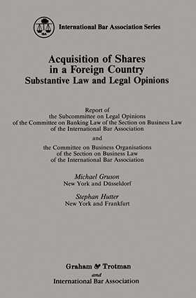 Acquisition of Shares in a Foreign Country