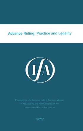 Advance Ruling: Practice & Legality