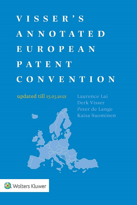 Visser's Annotated European Patent Convention 2020 Edition by VISSER