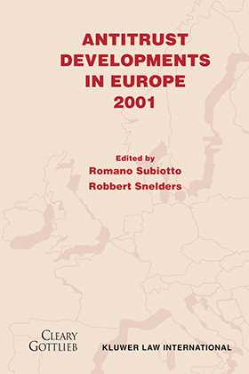 Antitrust Developments in Europe, 2001