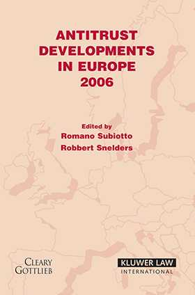 Antitrust Developments in Europe 2006