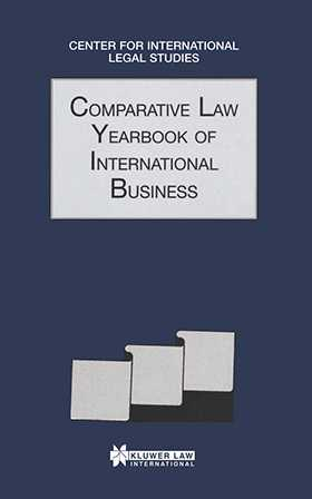 Comparative Law Yearbook Of International Business 1997