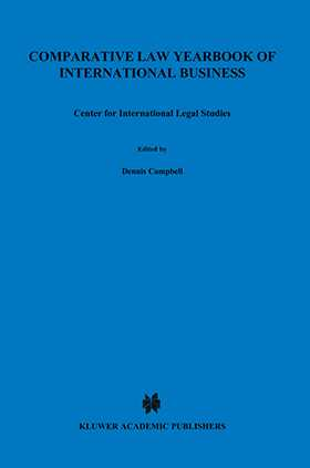 Comparative Law Yearbook of International Business 2001