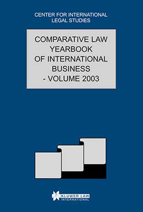 Comparative Law Yearbook of International Business 2003 by