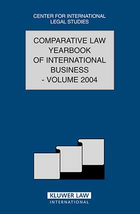 Comparative Law Yearbook of International Business Vol 26 2004 by