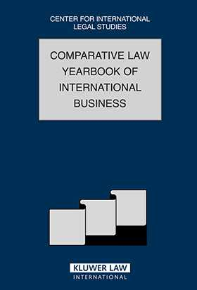 Comparative Law Yearbook of International Business Vol 29 by