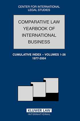 Comparative Law Yearbook Of International Business Cumulative Index, Volume 1-26, 1977-2004 by