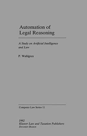 Computer Law Series: Automation of Legal Reasoning, Vol 11